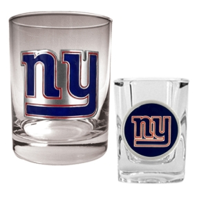 New York Giants Rocks Glass & Shot Glass Set