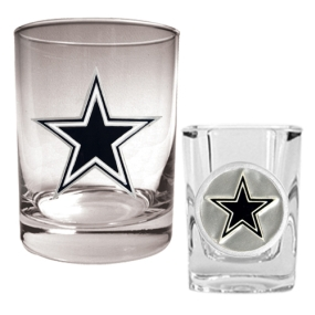 Dallas Cowboys Rocks Glass & Shot Glass Set