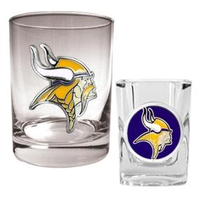 Minnesota Vikings Rocks Glass & Shot Glass Set