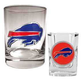 Buffalo Bills Rocks Glass & Shot Glass Set