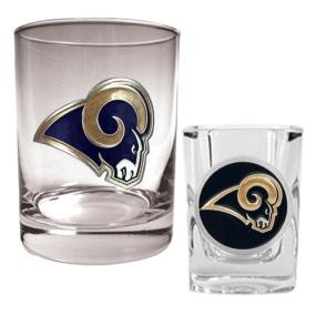 Saint Louis Rams Rocks Glass & Shot Glass Set
