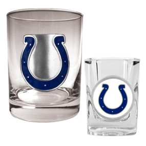 Indianapolis Colts Rocks Glass & Shot Glass Set