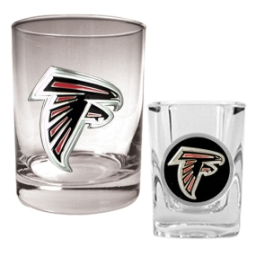Atlanta Falcons Rocks Glass & Shot Glass Set