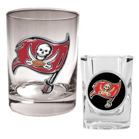 Tampa Bay Buccaneers Rocks Glass & Shot Glass Set