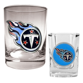 Tennessee Titans Rocks Glass & Shot Glass Set