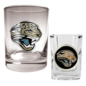 Jacksonville Jaguars Rocks Glass & Shot Glass Set
