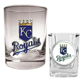 Kansas City Royals Rocks Glass & Square Shot Glass Set