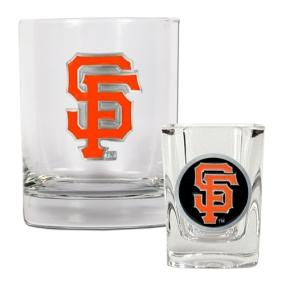 San Francisco Giants Rocks Glass & Square Shot Glass Set