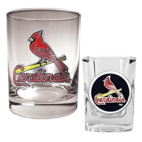 Saint Louis Cardinals Rocks Glass & Square Shot Glass Set