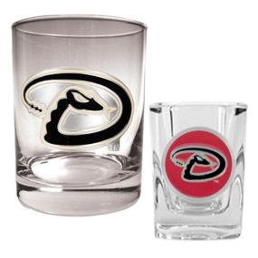 Arizona Diamondbacks Rocks Glass & Square Shot Glass Set