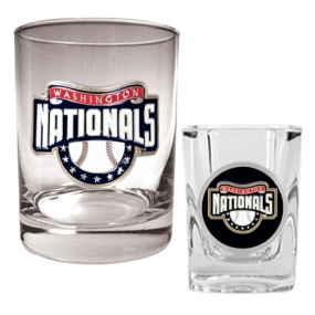 Washington Nationals Rocks Glass & Square Shot Glass Set
