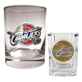 Cleveland Cavaliers Rocks Glass & Square Shot Glass Set