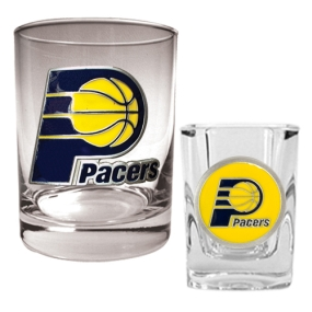 Indiana Pacers Rocks Glass & Square Shot Glass Set