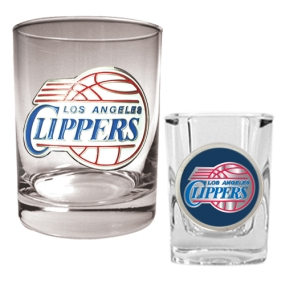 Los Angeles Clippers Rocks Glass & Square Shot Glass Set