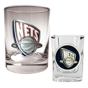 New Orleans Hornets Rocks Glass & Square Shot Glass Set