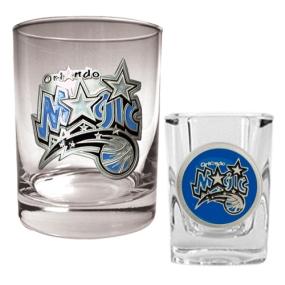 Orlando Magic Rocks Glass & Square Shot Glass Set