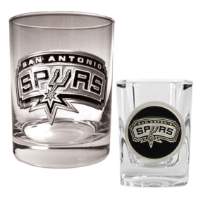 San Antonio Spurs Rocks Glass & Square Shot Glass Set