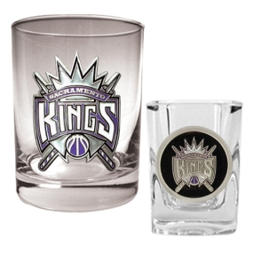 Sacramento Kings Rocks Glass & Square Shot Glass Set