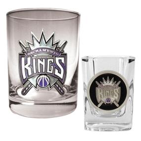 Sacramento Kings Rocks Glass & Square Shot Glass Set