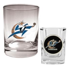 Washington Wizards Rocks Glass & Square Shot Glass Set