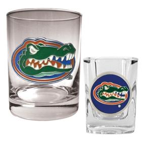 Florida Gators Rocks Glass & Shot Glass Set