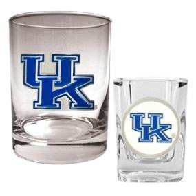 Kentucky Wildcats Rocks Glass & Shot Glass Set