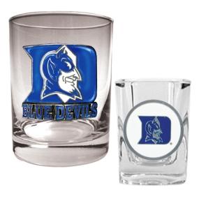 Duke Blue Devils Rocks Glass & Shot Glass Set