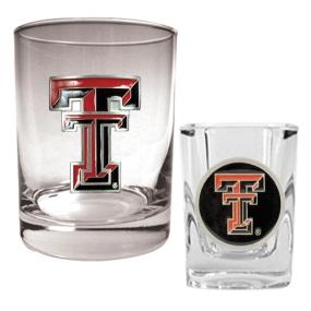 Texas Tech Red Raiders Rocks Glass & Shot Glass Set