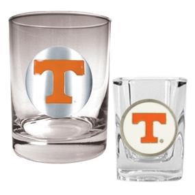 Tennessee Volunteers Rocks Glass & Shot Glass Set