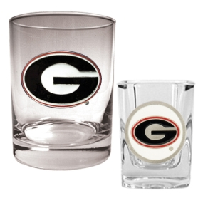 Georgia Bulldogs Rocks Glass & Shot Glass Set