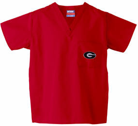 Georgia Bulldogs Scrub Top
