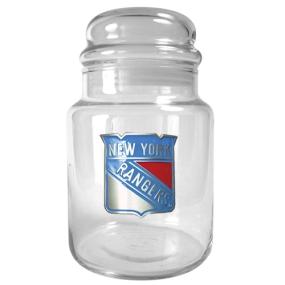 New York Rangers 31oz Glass Candy Jar
