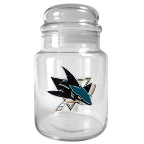 San Jose Sharks 31oz Glass Candy Jar