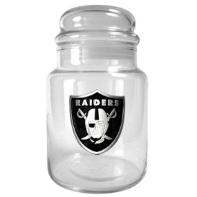 Oakland Raiders 31oz Glass Candy Jar
