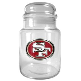 San Francisco 49ers 31oz Glass Candy Jar