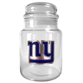 New York Giants 31oz Glass Candy Jar