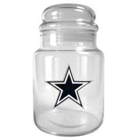 Dallas Cowboys 31oz Glass Candy Jar
