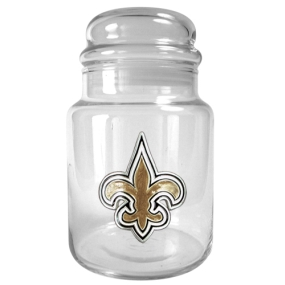 New Orleans Saints 31oz Glass Candy Jar