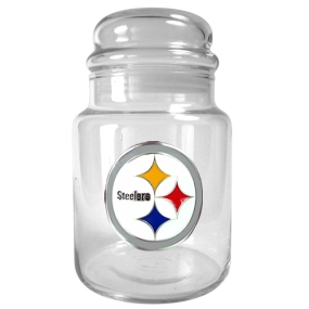 Pittsburgh Steelers 31oz Glass Candy Jar