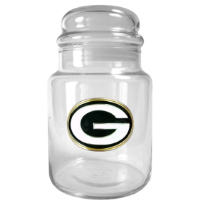 Green Bay Packers 31oz Glass Candy Jar