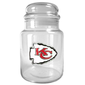 Kansas City Chiefs 31oz Glass Candy Jar