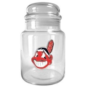 Cleveland Indians 31oz Glass Candy Jar