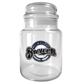 Milwaukee Brewers 31oz Glass Candy Jar