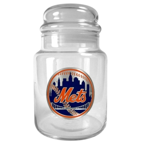 New York Mets 31oz Glass Candy Jar
