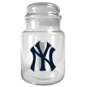 New York Yankees 31oz Glass Candy Jar