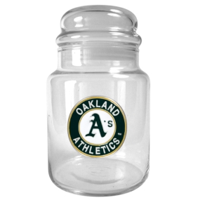 Oakland A's 31oz Glass Candy Jar