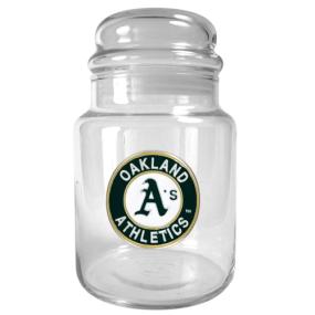 Oakland A's 31oz Glass Candy Jar