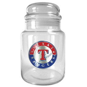 Texas Rangers 31oz Glass Candy Jar