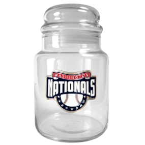 Washington Nationals 31oz Glass Candy Jar
