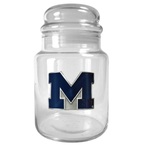Michigan Wolverines 31oz Glass Candy Jar